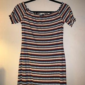 Body tight stripped dress